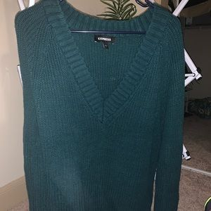 Express knit teal oversized sweater